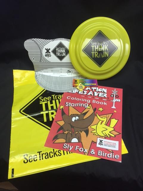 Children's See Tracks Think Train Gift Bag