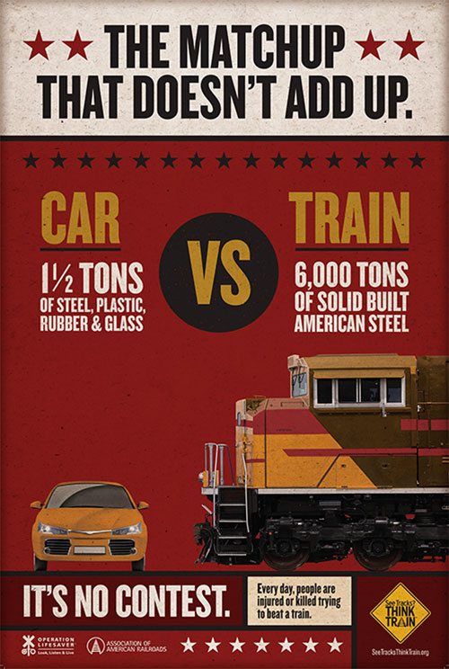 Poster - CAR VS TRAIN