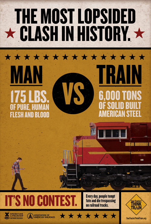 Poster - MAN VS TRAIN