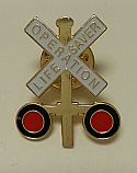 Metal Lapel Pin- Crossbuck Logo