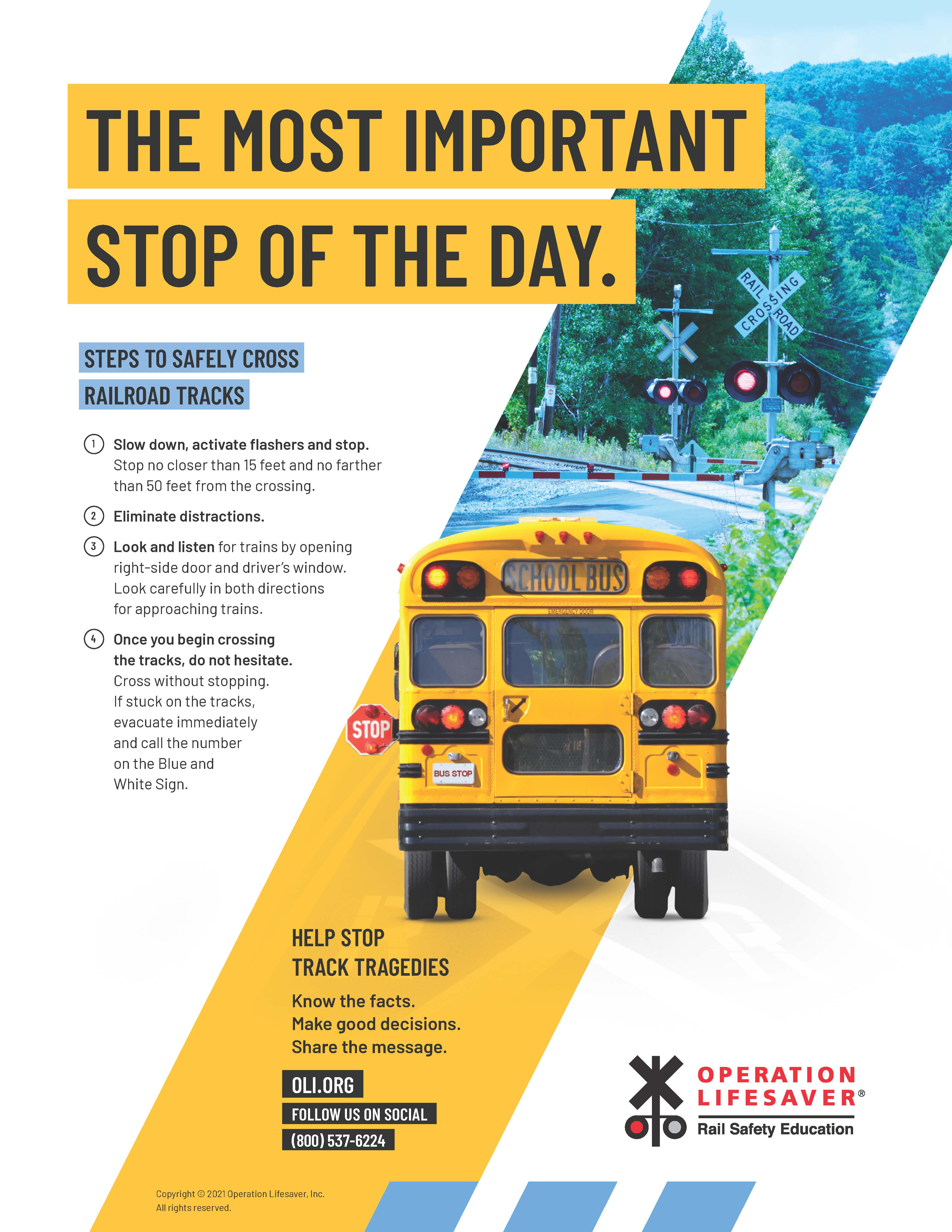 School Bus: The Most Important Stop of the Day Flier