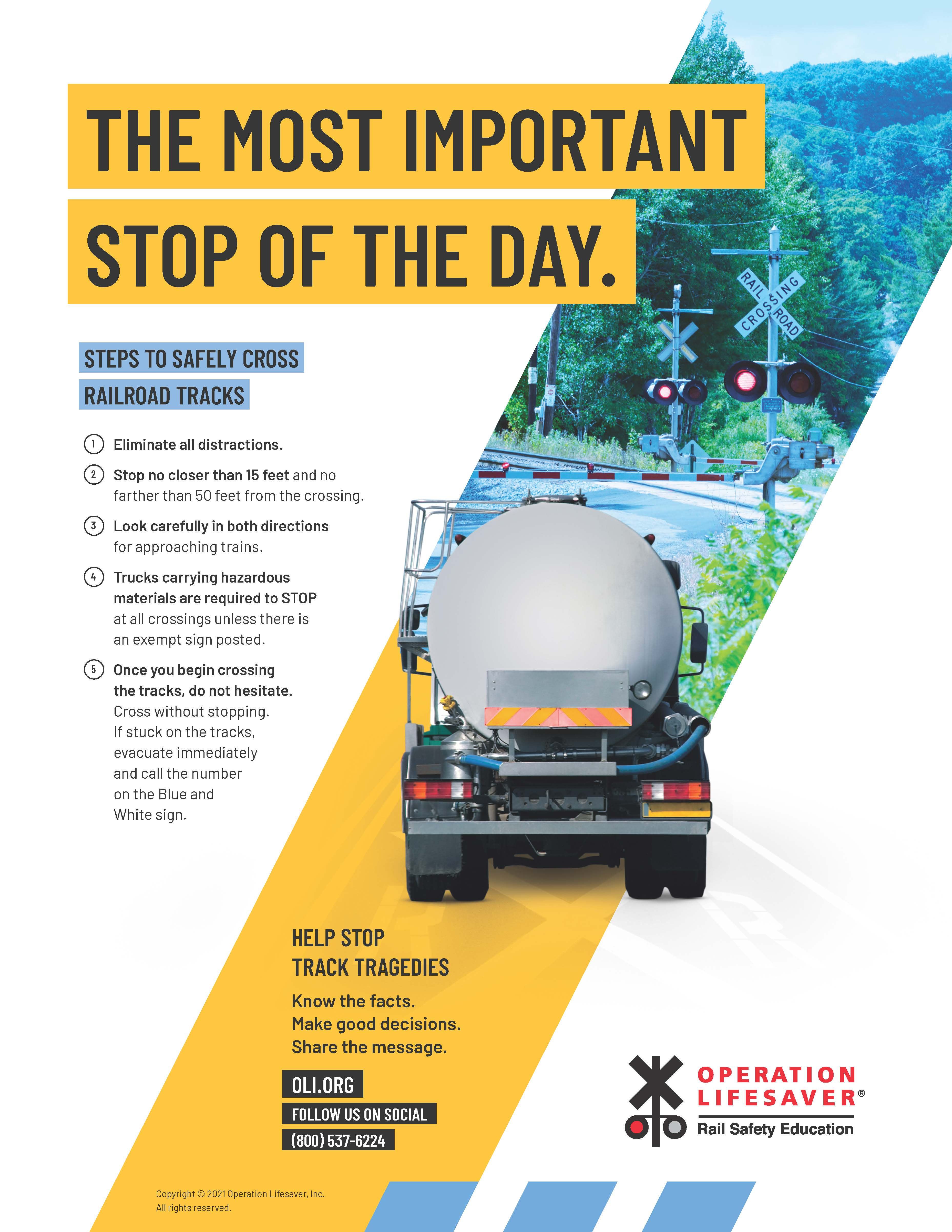 Tanker Truck: The Most Important Stop of the Day Poster