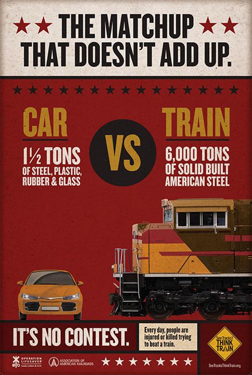 Poster - CAR VS TRAIN