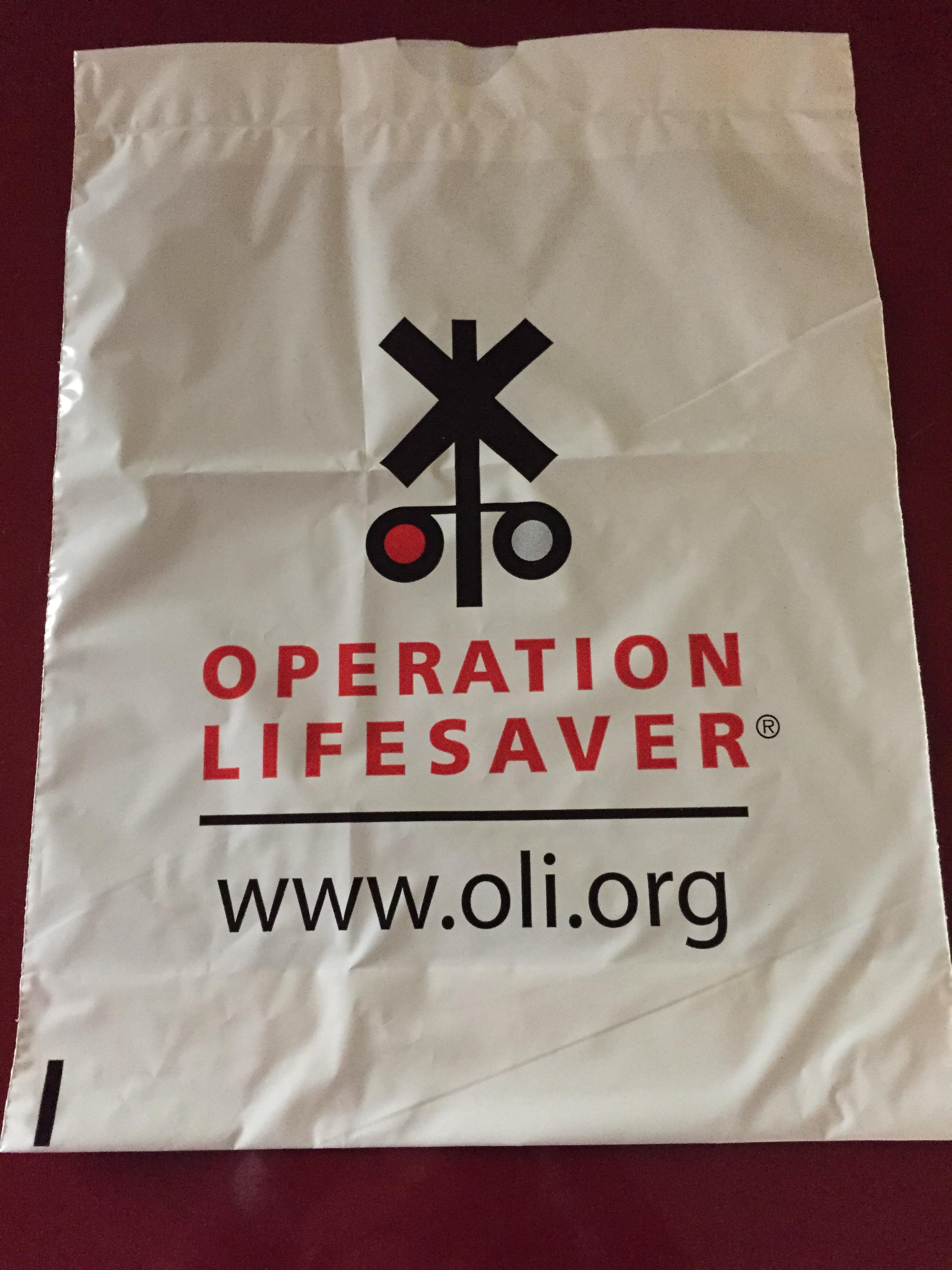 OLI Drawstring Plastic Bag