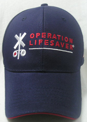 Cap with OLI Crossbuck logo