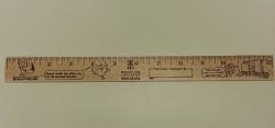 """Ruler 12"""", Wooden Color-Me"""