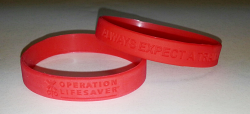 Wrist Bands - Red awareness bracelet