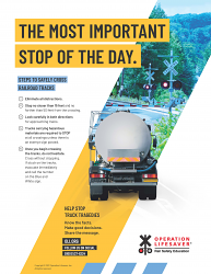 Tanker Truck: The Most Important Stop of the Day Flier