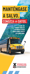 School Bus Drivers: Stay Safe. Know the Facts. Spanish