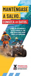 Outdoor Enthusiasts: Stay Safe. Know the Facts. Spanish
