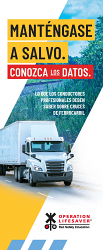 Professional Drivers: Stay Safe. Know the Facts. Spanish
