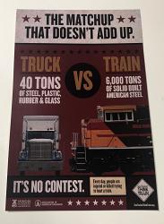 Poster - TRUCK VS TRAIN