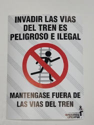 Poster - No Trespassing Spanish