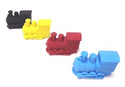 Eraser - shaped like a steam engine